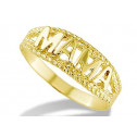 New Solid 14k Yellow Gold Mother Mama Braided Band Ring