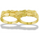 New 14k Solid Yellow Gold Nugget Knuckle Men's Ring