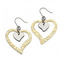 Stainless Steel Gold IPG-plated Heart Earrings