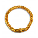 Gold Plated Stainless Steel Plain Magnetic Mesh Bracelet