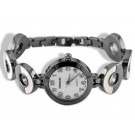 Ladies Black or Silver Tone Mother Of Pearl Wrist Watch