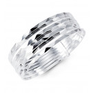 925 Sterling Silver Modern Polished Bangle Bracelets