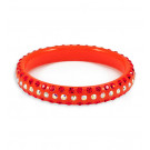 Round Orange Rainbow Swarovski Crystal Bangle Bracelet