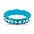 Aquamarine Rainbow Swarovski Crystal Light Blue Bangle