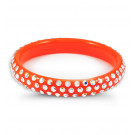 Rainbow Swarovski Crystal Solid Orange Bangle Bracelet