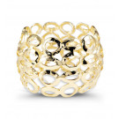 Gold Tone Extra Wide Modern Oval Fashion Cuff Bracelet