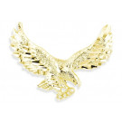 Mens 14k Yellow Gold Diamond Cut Flying Eagle Pendant
