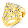 14k Yellow Gold 0.47 Ct Baguette Round Diamond Ring