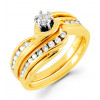 14k Yellow Gold 0.40 Round Diamond Bridal Set Ring