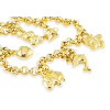 14k Gold Animals Star Heart Butterfly Charm Bracelet